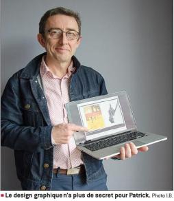 Patrick, graphiste designer, partenaire de féecomtuveux